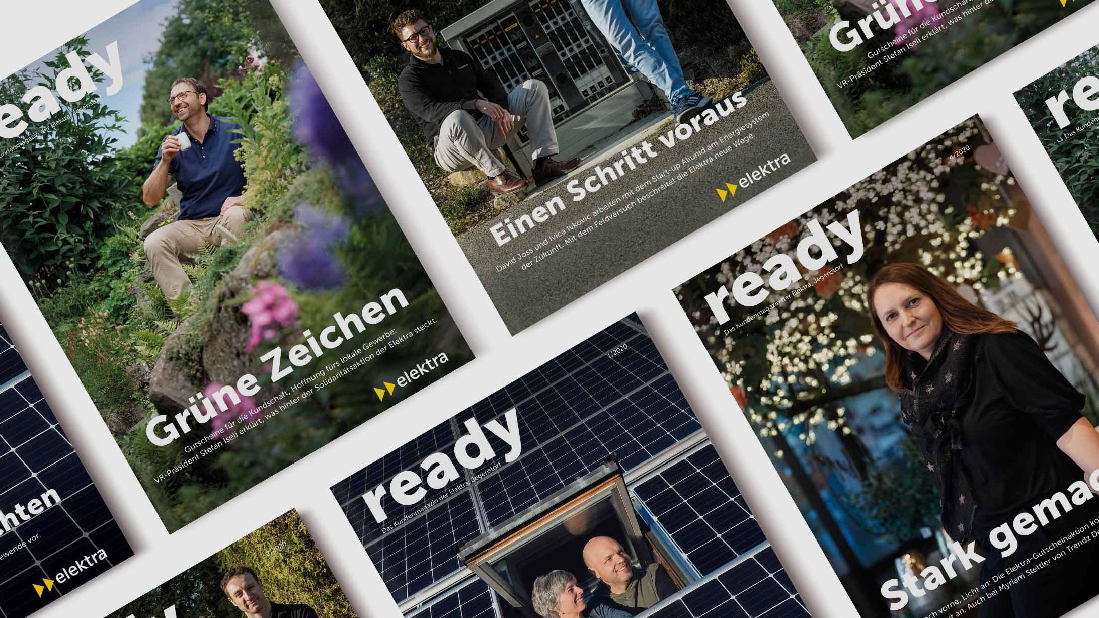 Cover des Elektra Kundenmagazins ready.