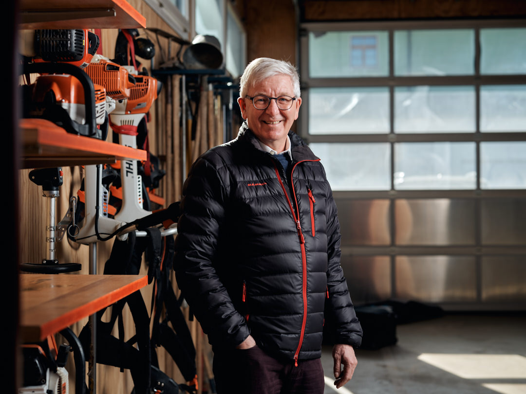 Gemeindepräsident Andreas Eggimann im Werkhof Rüdtligen-Alchenflüh/Lyssach