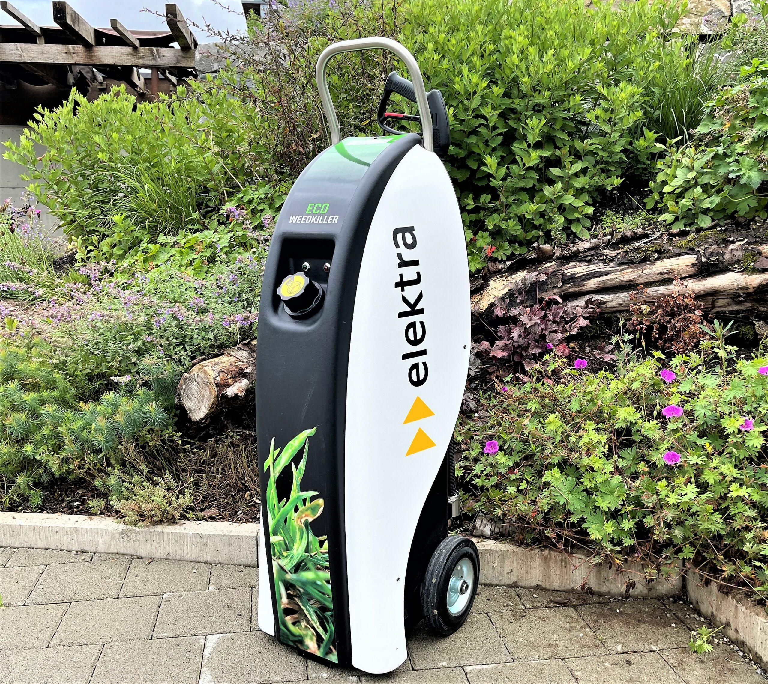Der Eco Weedkiller Garden ist ein Heisswassergerät, mit dem das Unkraut giftfrei bekämpft werden kann.